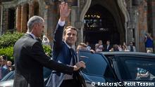 Frankreich Staatspräsident Macron wählt in Le Touquet
