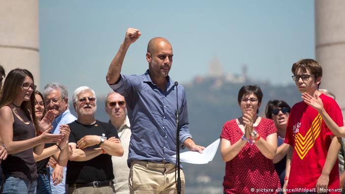 Demonstration für Unabhängiges Katalonien Pep Guardiola