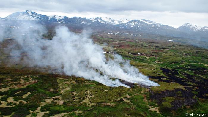 Una tundra ardiendo en Alaska.