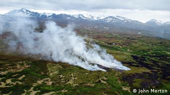 Горит тундра на Аляске