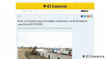 Screenshot El Comercio (El Comercio)