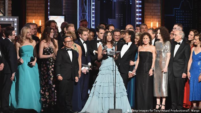 USA | Tony Award 2017 | Preisträger Stacey Mitch und Dear Evan Hansen Cast (Getty Images for Tony Award Productions/T. Wargo)