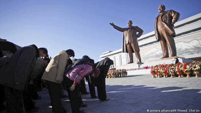 Nordkorea Statue Kim Il Sung Kim Jong Il (picture alliance/AP Photo/J. Chol Jin)