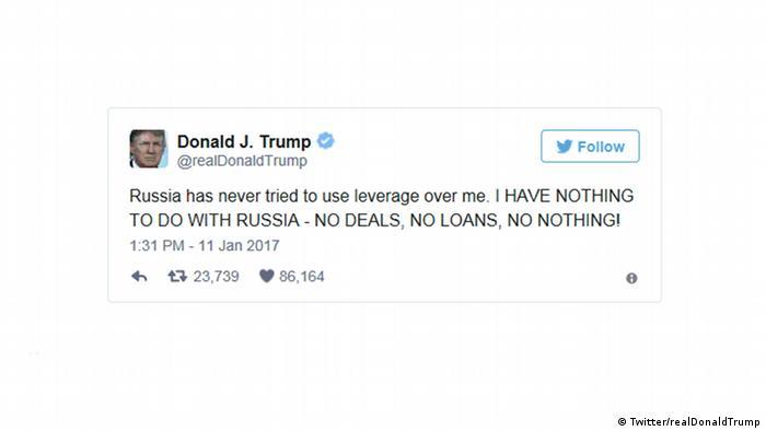 Твит Трампа от 11 января 2017