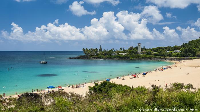 USA Waimea Bay auf Hawaii