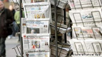 Zeitungsstand in Düsseldorf