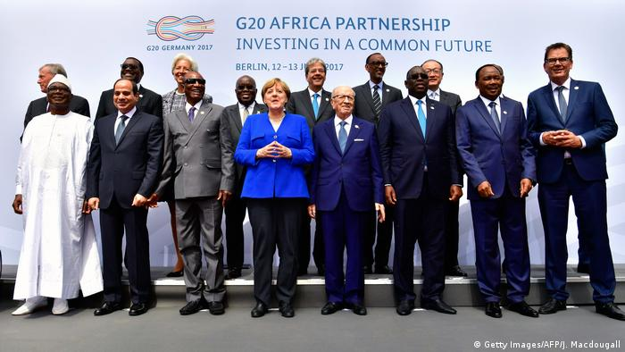 African leaders participate in a two-day G20 Africa partnership investment conference in Berlin in 2017