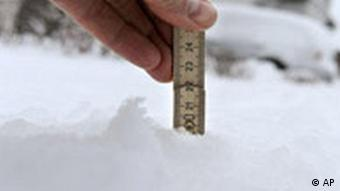20 centimeters of snow in Germany