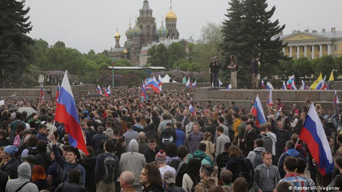 Russland Proteste in Sankt Petersburg