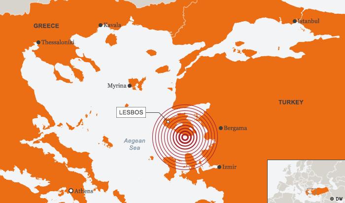Karte Seebeben Griechenland Türkei 12.06.2017 ENG (DW)
