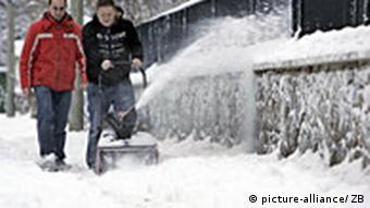 Wintereinbruch in Deutschland