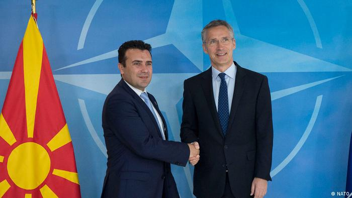 Belgien Jens Stoltenberg und Zoran Zaev