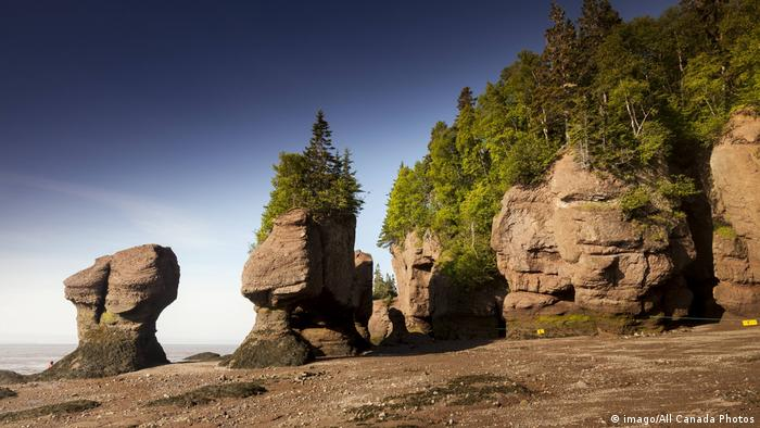 Low tide at the Hopewell Rocks Provincial Park New Brunswick Canada (imago/All Canada Photos)