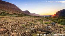 Sunset Tableland Mountains Gros Morne National Park Newfoundland and Labrador PUBLICATIONxINxGER