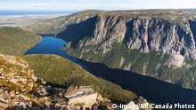view of Ten Mile Pond from the top of Gros Morne Mountain Gros Morne National park Newfoundland &