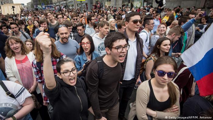 Russland Proteste für Oppositionsführer Alexei Navalny (Getty Images/AFP/M. Antonov)