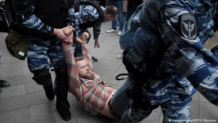 Russland Proteste für Oppositionsführer Alexei Navalny (Getty Images/AFP/V. Maximov)
