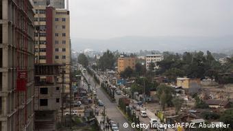 Baustelle in Addis Abeba Äthiopien