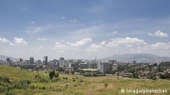 Stadtansicht von Addis Abeba Hauptstadt von Aethiopien