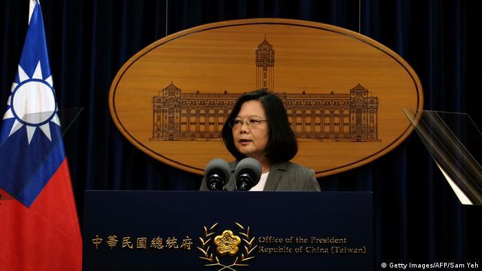 TAIWAN Präsidentin Tsai zu: China und Pananma nehmen diplomatische Beziehungen auf (Getty Images/AFP/Sam Yeh)
