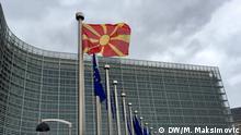 Belgien Die mazedonische Fahne am EU-Parlament