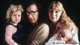 Woody Allen, Mia Farrow, Dylan and Satchel