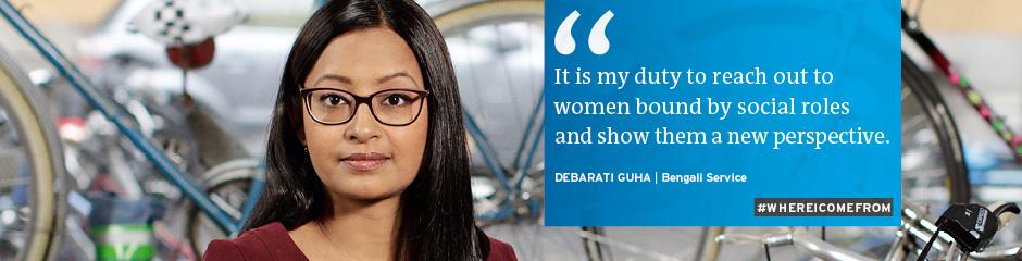 Headerbanner DW Faces #whereicomefrom Debarati Guha