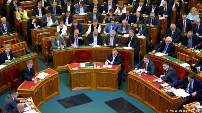 Ungarn Parlament Premierminister Orban