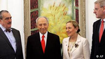 EU Delegation bei Peres in Jerusalem