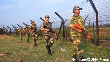 """October 27, 2016 - Petrapole Border, India-Bangladesh Border, India - Indian Border Security Force (BSF) women soldiers patrolling at the near Petrapole Border outpost at the India-Bangladesh Border on the outskirts of Kolkata,India.India arrested two citizens and said it was expelling a Pakistani high commission staffer for espionage activities"""" on 27 October 2016 after busting a ring that collected documents on defence deployment and border area maps. Petrapole Border India PUBLICATIONxINxGERxSUIxAUTxONLY - ZUMAn230 20161027_zaa_n230_157 October 27 2016 Border India Bangladesh Border India Indian Border Security Force BSF Women Soldiers Patrolling AT The Near Border Outpost AT The India Bangladesh Border ON The outskirts of Kolkata India India Arrested Two Citizens and Said IT what expelling a Pakistani High Commission staff for Espionage ON 27 October 2016 After Busting a Ring Thatcher collected Documents ON Defence deployment and Border Area Maps Border India PUBLICATIONxINxGERxSUIxAUTxONLY 20161027_zaa_n230_157"""