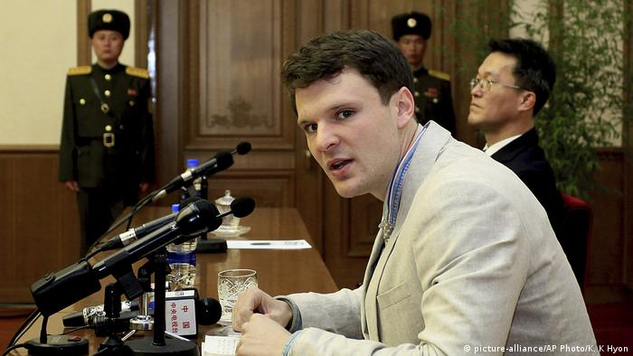 Nordkorea Freilassung US-Student Otto Warmbier (picture-alliance/AP Photo/K. K Hyon)
