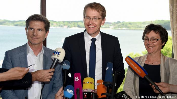 Coalition parties in Schleswig-Holstein