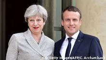 Frankreich Paris Treffen Theresa May mit Emmanuel Macron
