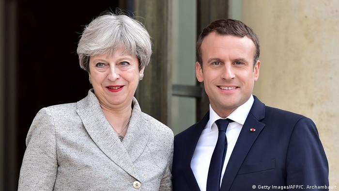 Frankreich Paris Treffen Theresa May mit Emmanuel Macron (Getty Images/AFP/C. Archambault)