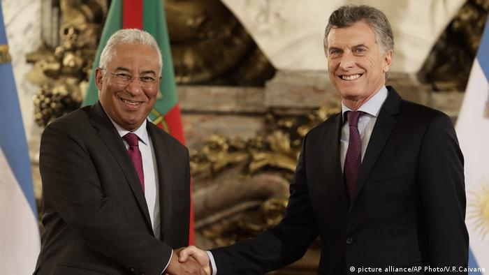 Mauricio Macri, Antonio Costa (picture alliance/AP Photo/V.R.Caivano)