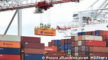 Container freight in England