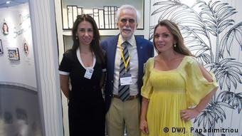 Η Ξένια Κωνσταντίνου από την Κύπρο και ο Νικόλας Παληκαράκης με την Αλεξάνδρα Πασχαλίδου από την Ελλάδα μοιράστηκαν τις εμπειρίες τους από την πρώιμη φάση του προγράμματος Erasmus