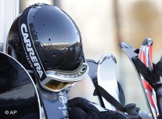 A ski helmet