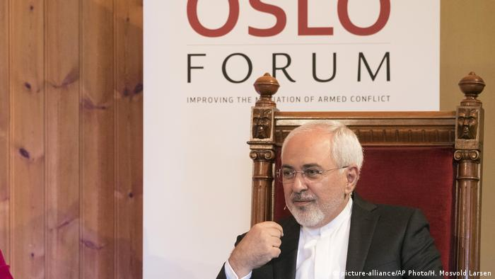Norway Oslo Forum Mogherini mit Mohammad Javad Zarif (picture-alliance/AP Photo/H. Mosvold Larsen)