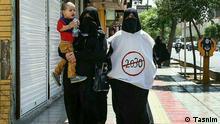 Frauen demonstrieren gegen das UNESCO-Bildungsdokument 2030.
