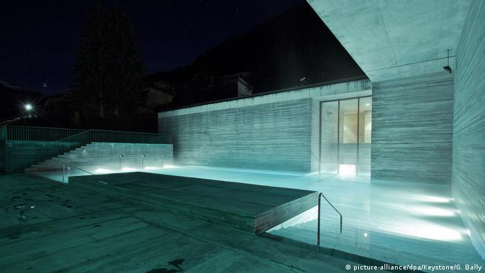 Switzerland thermal spa in Vals by architect Peter Zumthor (picture-alliance/dpa/Keystone/G. Bally)