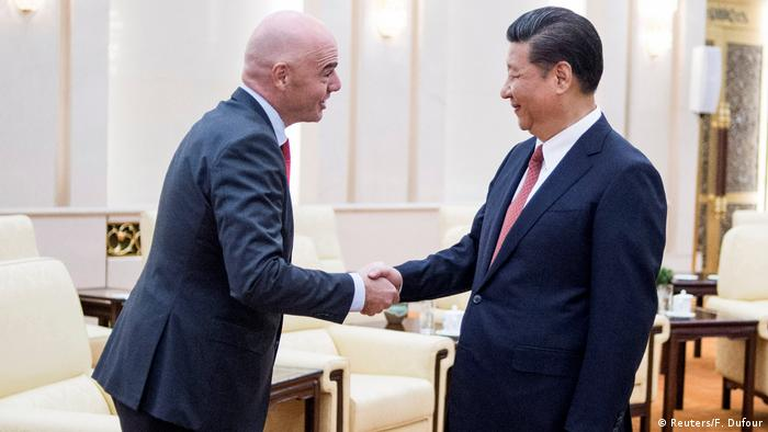 China FIFA-Präsident Gianni Infantino & Xi Jinping, Präsident China (Reuters/F. Dufour)