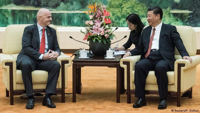 China FIFA-Präsident Gianni Infantino & Xi Jinping, Präsident China