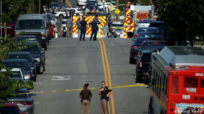 USA Schüsse auf Kongressabgeordnete in Alexandria, Virginia (Reuters/J. Roberts)