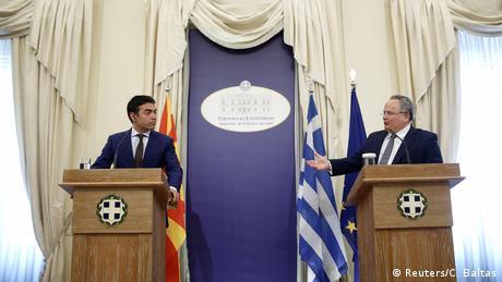 Griechenland Mazedonien Treffen der Außenminister in Athen (Reuters/C. Baltas)