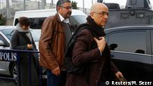 01.03.2017 *** Enis Berberoglu, a lawmaker from the main opposition Republican People's Party (CHP), arrives at the Justice Palace, the Caglayan courthouse, to attend a trial in Istanbul, Turkey March 1, 2017. Picture taken March 1, 2017. REUTERS/Murad Sezer