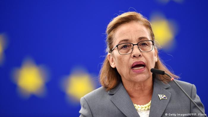 Straßburg Europäisches Parlament | Hilda Heine, Präsidentin der Marschallinseln