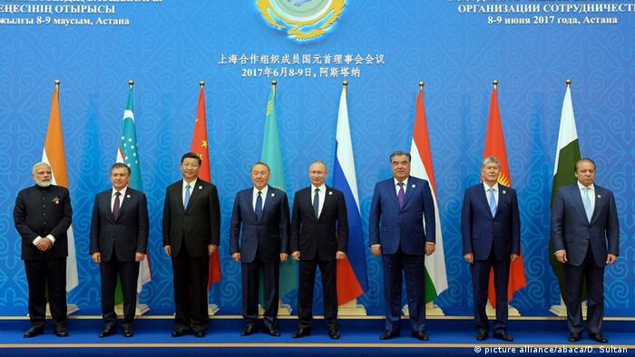 Kassachstan Indien und Pakistan werden Mitglieder im Schanghai-Kooperations-Rat (picture alliance/abaca/D. Sultan )