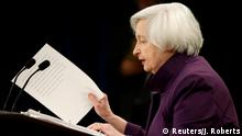 14.6.2017*** Federal Reserve Board Chairwoman Janet Yellen speaks during a news conference after the Fed releases its monetary policy decisions in Washington, U.S., June 14, 2017. REUTERS/Joshua Roberts
