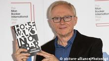 London, UK. 13 June 2017. Israeli writer David Grossman with his book Horse Walks Into a Bar. Photocall with the shortlisted writers and their translators for the 2017 Man Booker Prize. |